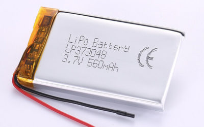 Hot Selling LiPo Batteries LP373048 3.7V 560mAh with 2.072Wh