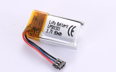 Small Rechargeable LiPo Batteries LP501321 80mAh with 0.296Wh