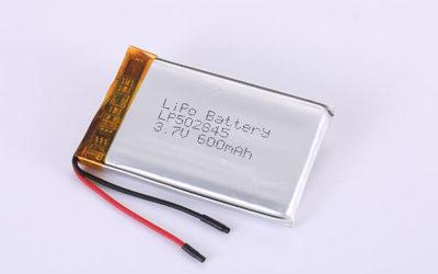 Hot Selling LiPo Batteries LP502845 3.7V 600mAh