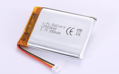 Rechargeable LiPo Batteries LP503648 850mAh with 3.145Wh