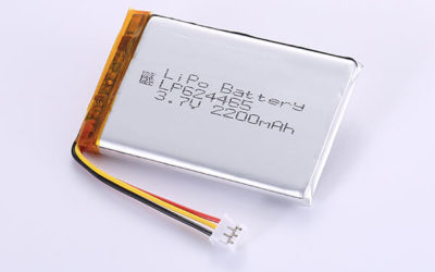 Rechargeable LiPo batteries LP624465 3.7V 2200mAh with 8.14Wh