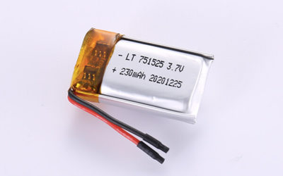 Standard LiPo Batteries LP751525 230mAh with 0.851Wh