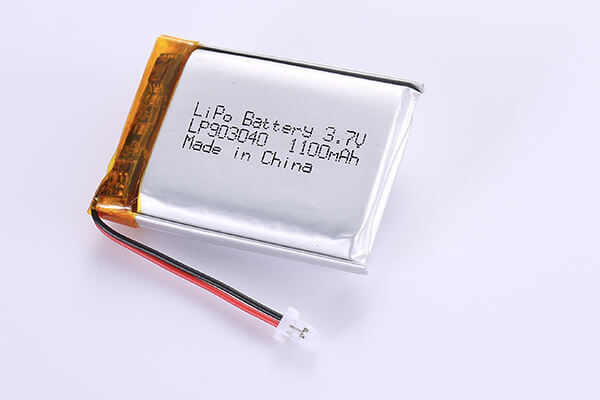 Rechargeable LiPo Batteries LP903040 1100mAh with 4.07Wh