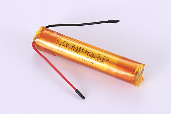 Hot Selling cylindrical LiPo Batteries LPC11530 3.7V 550mAh with 2.035Wh