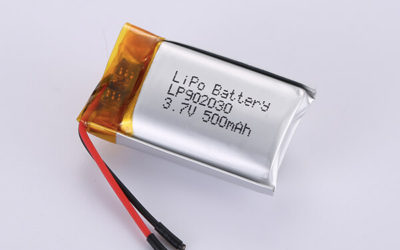 Hot Selling LiPo Batteries LP902030 3.7V 500mAh with 1.85Wh