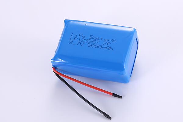 Hot Selling Standard LiPo Batteries LP123557 2P 3.7V 5000mAh