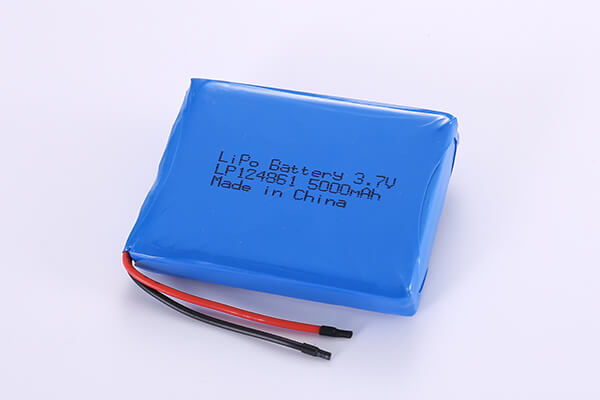 Hot Selling Standard LiPo Batteries LP124861 3.7V 5000mAh with 18.5Wh