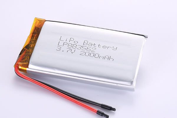 Rechargeable LiPo Batteries LP883562 3.7V 2000mAh with 7.4Wh