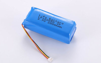 Hot Selling LiPo batteries LP102050 3.7V 2000mAh with 7.4Wh