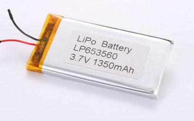 Hot Selling LiPo Batteries LP653560 1350mAh 4.995Wh