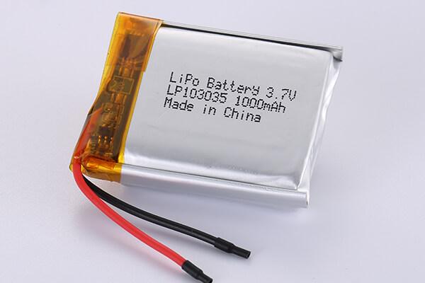 Hot Selling LiPo Batteries LP103035 1000mAh 3.7Wh