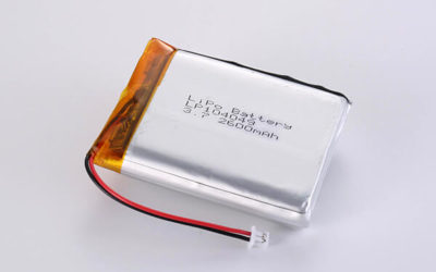 Hot Selling LiPo batteries LP104049 3.7V 2600mAh with 9.62Wh