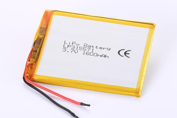 Hot Selling LiPo Batteries LP315571 1600mAh 5.92Wh