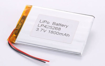 Rechargeable LiPo batteries LP425268 3.7V 1800mAh with 6.66W