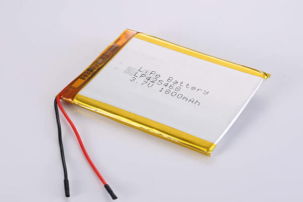 Rechargeable LiPo batteries LP425468 3.7V 1800mAh with 6.66W