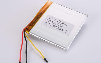 Hot Selling LiPo batteries LP426760 3.7V 2000mAh with 7.4Wh