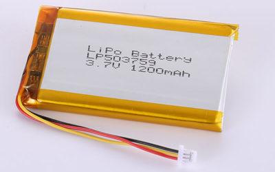 Hot Selling LiPo Batteries LP503759 1200mAh 4.44Wh