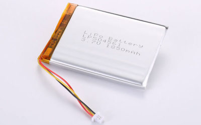 Rechargeable LiPo batteries LP504561 3.7V 1850mAh with 6.845Wh