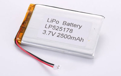 Hot Selling LiPo batteries LP525178 3.7V 2500mAh with 9.25Wh