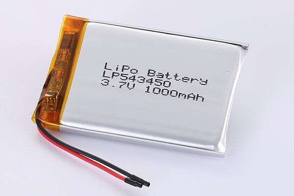 Hot Selling LiPo Batteries LP543450 1000mAh 3.7Wh