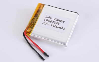 Rechargeable LiPo batteries LP564546 3.7V 1400mAh with 5.18Wh