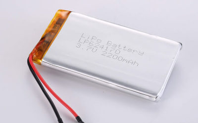 Hot Selling LiPo batteries LP624170 3.7V 2200mAh with 8.14Wh