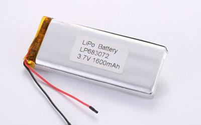 Hot Selling LiPo Batteries LP683072 1600mAh 5.92Wh