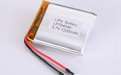 Hot Selling LiPo Batteries LP704044 1200mAh 4.44Wh