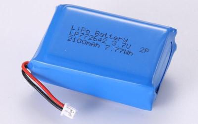 Hot Selling LiPo Batteries LP772642 2P 2100mAh 7.77Wh