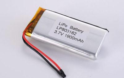 Hot Selling LiPo Batteries LP803162 1900mAh 7.03Wh