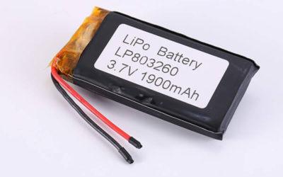 Hot Selling LiPo Batteries LP803260 1900mAh 7.03Wh