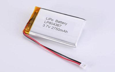 Hot Selling LiPo Batteries LP804367 2750mAh 10.175Wh