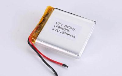 Hot Selling LiPo Batteries LP855055 2500mAh 9.25Wh