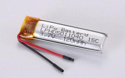 Hot Selling Standard LiPo Batteries LPHD5011040 15C 120mAh 0.444Wh