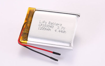 3.7V Hot Selling Multipurpose Rechargeable LiPo Batteries LP103040 1200mAh 4.44Wh