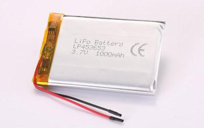 3.7V Hot Selling Multipurpose Rechargeable LiPo Batteries LP453653 1000mAh 4.44Wh