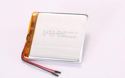 3.7V Hot Selling Multipurpose Rechargeable LiPo Batteries LP484850 1000mAh 3.7Wh