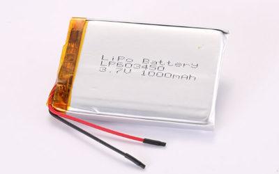 3.7V Hot Selling Multipurpose Rechargeable LiPo Batteries LP603450 1000mAh 3.7Wh