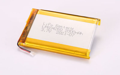 3.7V Rechargeable Hot Selling LiPo Batteries LP604260 2000mAh 7.4Wh