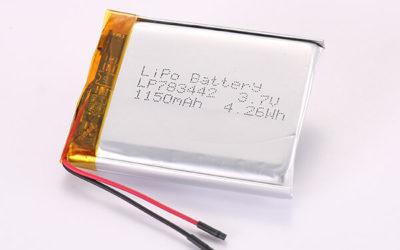 3.7V Hot Selling Multipurpose Rechargeable LiPo Batteries LP783442 1150mAh 4.26Wh