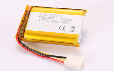 3.7V Hot Selling Multipurpose Rechargeable LiPo Batteries With Molex 2510-3P LP103450 1800mAh 6.66Wh