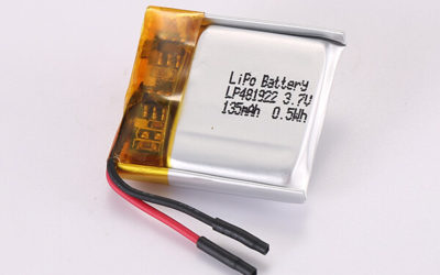 Hot Selling Rechargeable Lithium Polymer Batteries LP481922 135mAh 0.50Wh