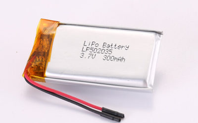 3.7V Rechargeable Hot Selling LiPo Batteries LP502035 300mAh 1.11Wh