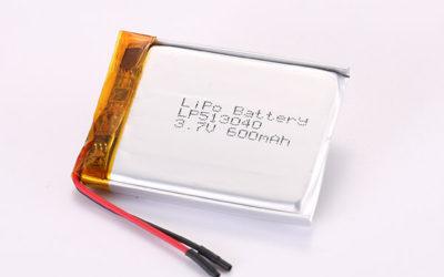 3.7V Rechargeable LiPo Batteries LP513040 600mAh 2.22Wh
