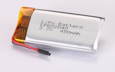 3.7V Rechargeable LiPo Batteries LP602040 450mAh 1.665Wh