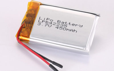 3.7V Rechargeable LiPo Batteries LP642235 450mAh 1.665Wh