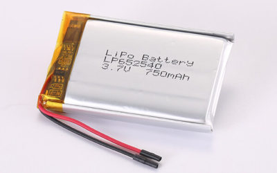 3.7V Standard Rechargeable LiPo Batteries LP652540 750mAh 2.775Wh