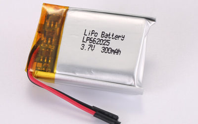 3.7V Rechargeable Hot Selling LiPo Batteries LP662025 300mAh 1.11Wh
