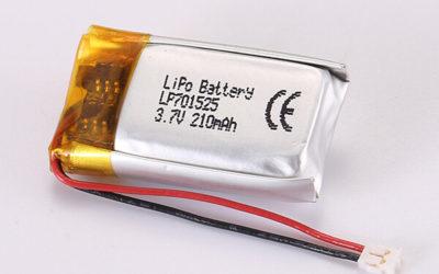 3.7V Rechargeable LiPo Batteries LP701525 210mAh 0.777Wh