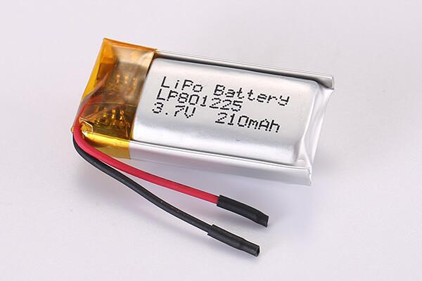 3.7V Rechargeable LiPo Batteries LP801225 210mAh 0.777Wh